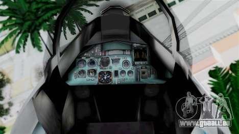 SU-37 Indian Air Force pour GTA San Andreas vue de droite