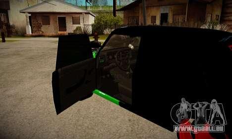VAZ 2107 hobo pour GTA San Andreas sur la vue arrière gauche