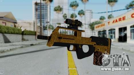 GTA 5 Online Lowriders DLC Assault SMG für GTA San Andreas zweiten Screenshot