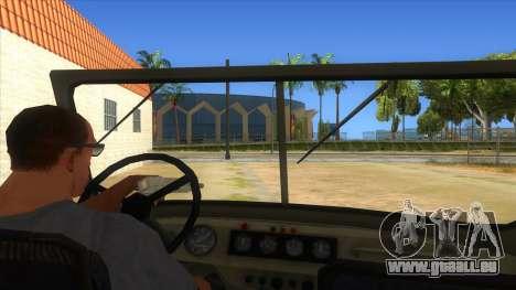 UAZ-469 Green für GTA San Andreas Innenansicht
