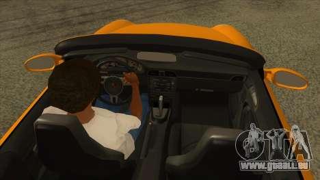 Porsche 911 pour GTA San Andreas vue intérieure