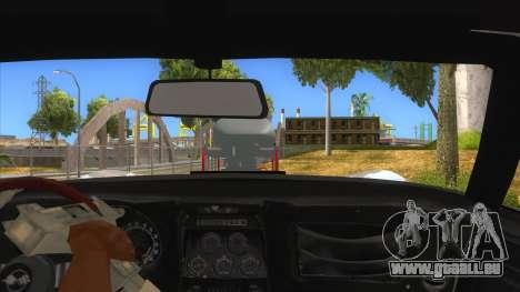 1968 Chevrolet Corvette Stingray Monster Truck pour GTA San Andreas vue intérieure
