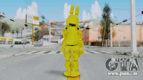 FNAF Spring Bonnie pour GTA San Andreas troisième écran