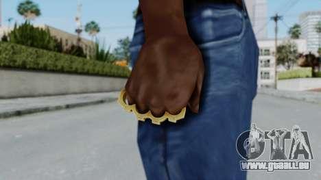 The Vagos Knuckle Dusters from Ill GG Part 2 pour GTA San Andreas troisième écran