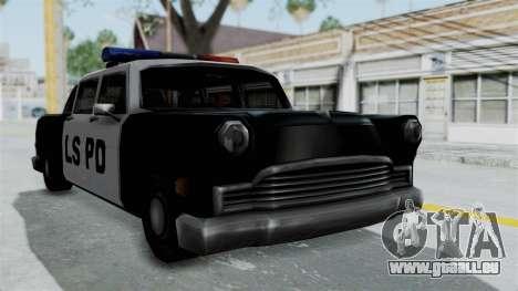 Police Cabbie pour GTA San Andreas sur la vue arrière gauche