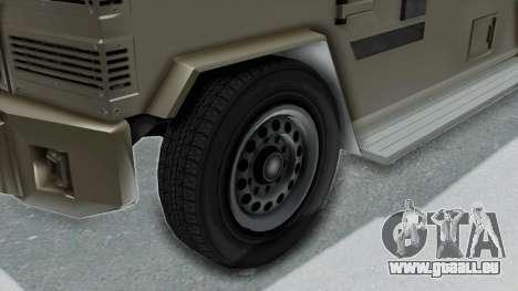 GTA 5 Brute Riot Police IVF pour GTA San Andreas sur la vue arrière gauche