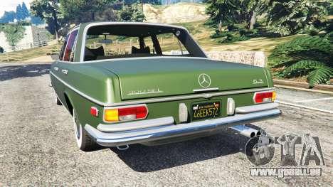 GTA 5 Mercedes-Benz 300SEL 6.3 1972 arrière vue latérale gauche
