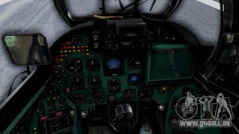 Mi-24V Afghan Air Force 112 pour GTA San Andreas vue arrière