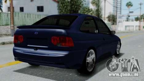 Ford Escort pour GTA San Andreas laissé vue
