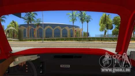 Zastava Poly 1.1 pour GTA San Andreas vue intérieure
