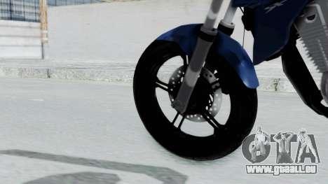 Honda CB300R pour GTA San Andreas sur la vue arrière gauche