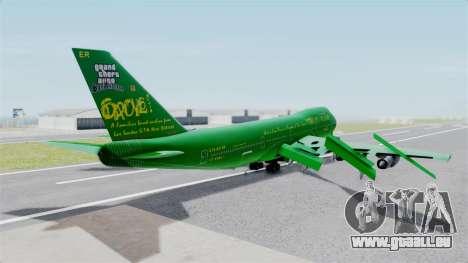 Boeing 747-100 Grove Street pour GTA San Andreas laissé vue