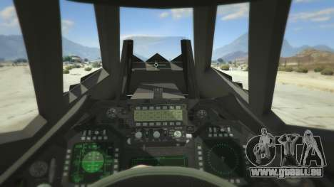 GTA 5 Lockheed F-117 Nighthawk Black 2.0 quatrième capture d'écran