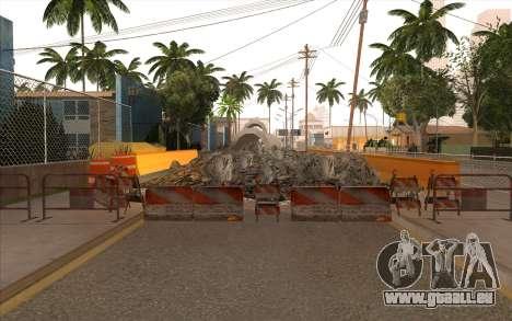 Des travaux de réparation sur Grove Street pour GTA San Andreas neuvième écran