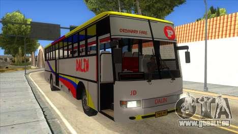 Dalin Ordinary pour GTA San Andreas vue intérieure
