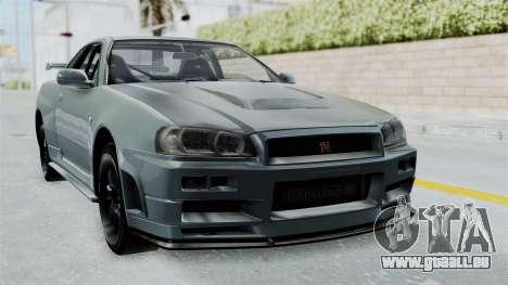 Nissan Skyline GT-R R34 2002 F&F4 für GTA San Andreas