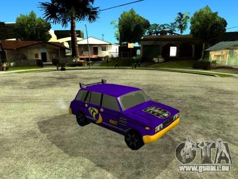VAZ 2104 WRC pour GTA San Andreas vue intérieure