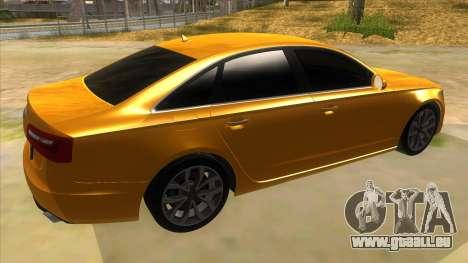 Audi A6 2012 pour GTA San Andreas vue de droite