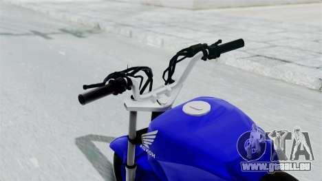 Honda CG Titan 2014 Stunt für GTA San Andreas Rückansicht