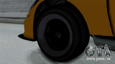 GTA 5 Karin Sultan RS Drift Big Spoiler PJ für GTA San Andreas zurück linke Ansicht