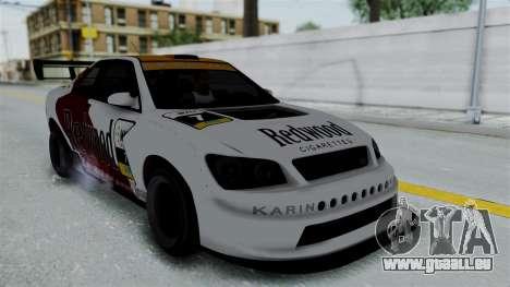 GTA 5 Karin Sultan RS Drift Big Spoiler PJ für GTA San Andreas obere Ansicht