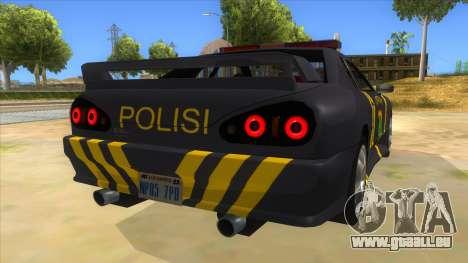 Elegy NR32 Police Edition Grey Patrol für GTA San Andreas rechten Ansicht