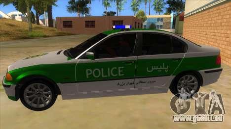 BMW Iranian Police pour GTA San Andreas laissé vue
