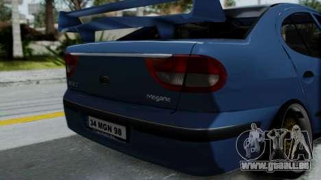 Renault Megane Stance für GTA San Andreas Rückansicht