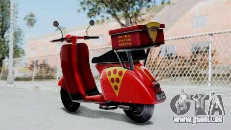 GTA 5 Pizza Boy pour GTA San Andreas laissé vue