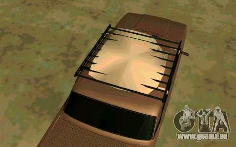 VAZ 2107 Hiver pour GTA San Andreas sur la vue arrière gauche