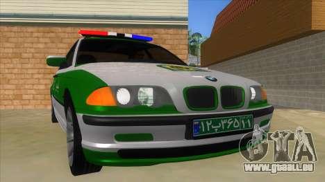 BMW Iranian Police pour GTA San Andreas vue arrière