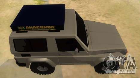 Toyota Machito 4X4 für GTA San Andreas Innenansicht