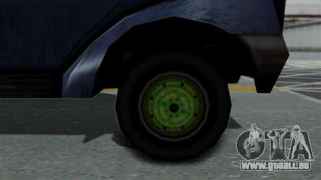 Yankee with StickerBombing pour GTA San Andreas sur la vue arrière gauche