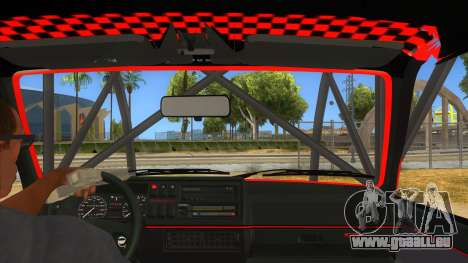 Volkswagen Golf MK2 RollGolf für GTA San Andreas Innenansicht