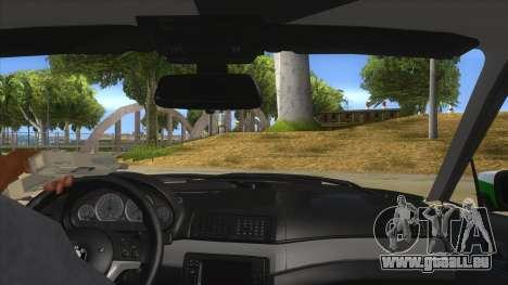 BMW Iranian Police pour GTA San Andreas vue intérieure