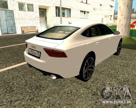 Audi RS7 Quattro pour GTA San Andreas vue de droite