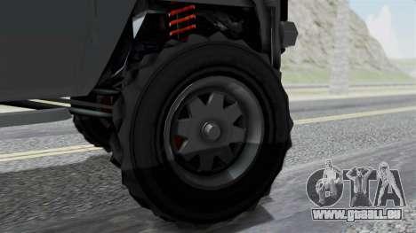 GTA 5 Karin Rebel 4x4 IVF pour GTA San Andreas sur la vue arrière gauche