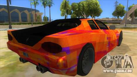 GTA 3 Cheetah ZTR für GTA San Andreas Rückansicht