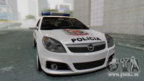 Opel Vectra 2005 Policia pour GTA San Andreas vue de droite