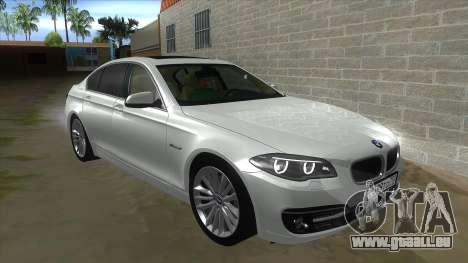 BMW 530XD F10 pour GTA San Andreas vue intérieure