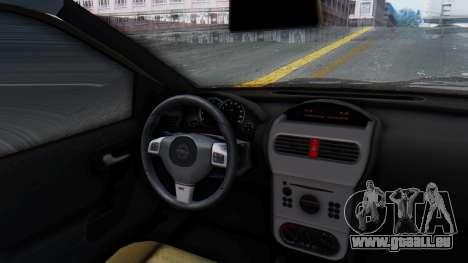 Opel Corsa C Policia pour GTA San Andreas vue arrière