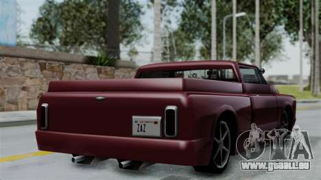 Slamvan Milt-Lorry pour GTA San Andreas laissé vue