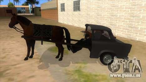 Trabant with Horse pour GTA San Andreas laissé vue