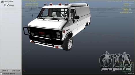 GTA 5 GMC Vandura (A-Team Van) droite vue latérale