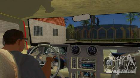 HUMMER H2 Firetruck pour GTA San Andreas vue intérieure
