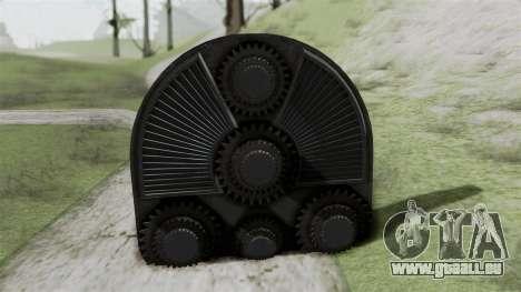 GTA 5 HVY Cutter für GTA San Andreas zurück linke Ansicht