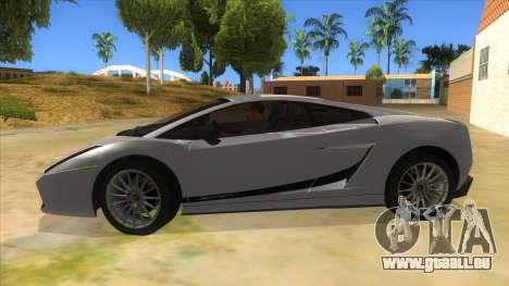 Lamborghini Gallardo 2012 Edition pour GTA San Andreas laissé vue