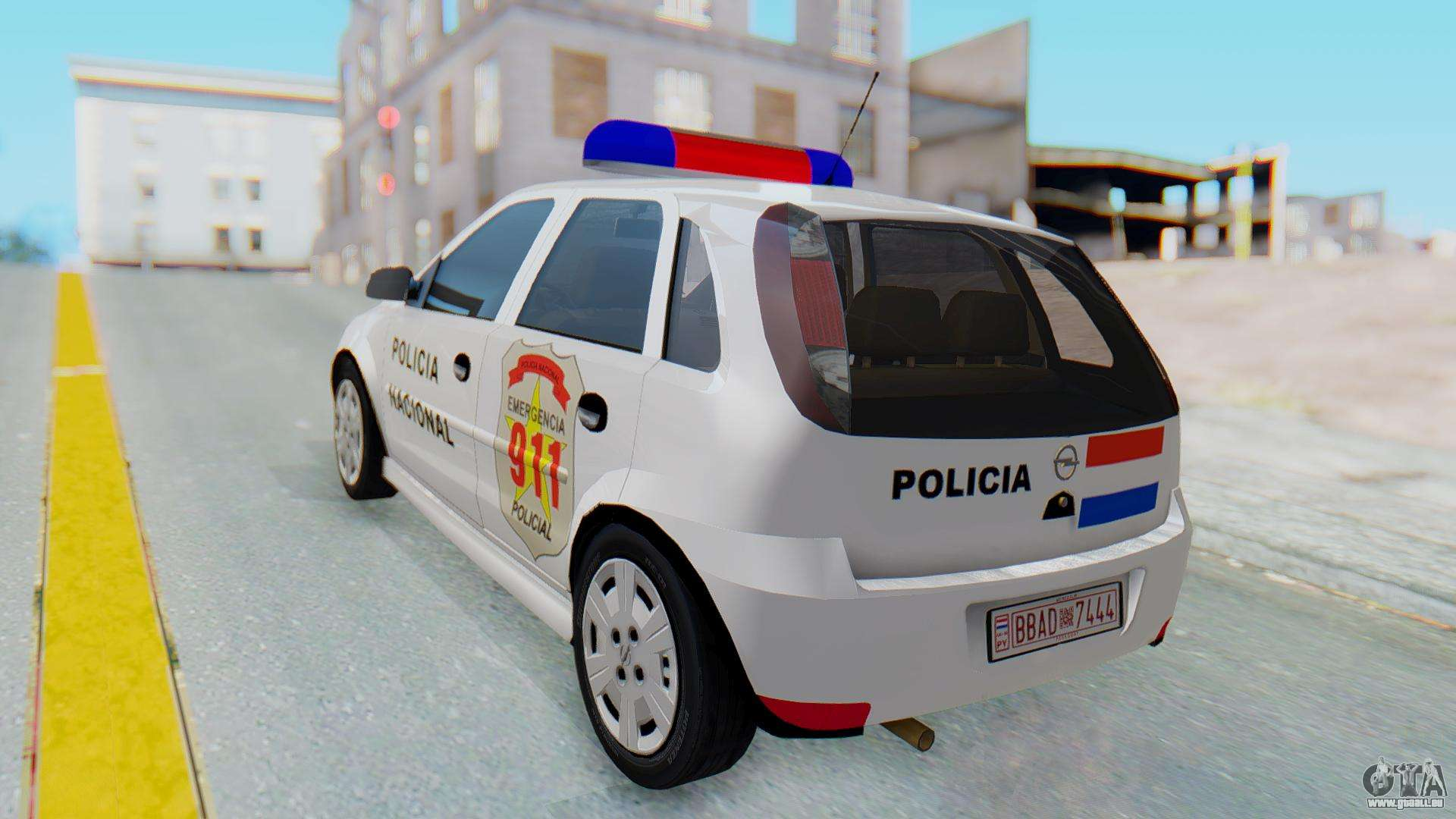 opel corsa c policia f r gta san andreas. Black Bedroom Furniture Sets. Home Design Ideas
