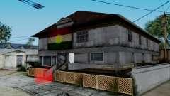 New CJ House with Kurdish Flag pour GTA San Andreas