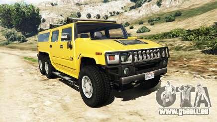 Hummer H2 6x6 v2.0 pour GTA 5
